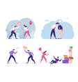 set business characters enemies or opponents vector image vector image