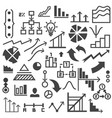 set drawing graphs and symbols vector image