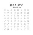 set line icons beauty