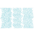 set of lacy vintage elegant trims vector image
