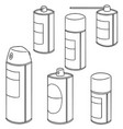 set of spray can vector image vector image