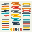 set retro ribbons and labels for design vector image