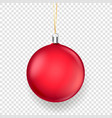 shining matte red christmas bauble isolated vector image
