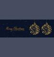 shiny sparkles christmas balls banner design vector image vector image