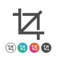 simple portrait icon symbol design set vector image vector image