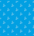 spa eco leafs pattern seamless blue vector image