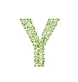 Spring green leaves eco letter Y vector image vector image