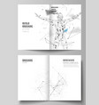 the layout of two a4 format cover mockups vector image vector image
