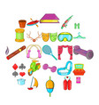 theatrical art icons set cartoon style vector image vector image
