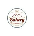 vintage retro emblem bakery logo design - i vector image