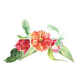 watercolor bouquet from different flowers vector image vector image