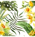 watercolor canna flowers pattern vector image
