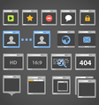 Web browser icons collection vector image vector image