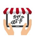 wifi service vector image vector image