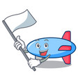 with flag zeppelin mascot cartoon style vector image