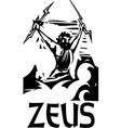 woodcut zeus text vector image vector image