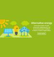 alternative energy banner horizontal concept vector image