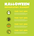 happy halloween infographic element design vector image