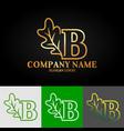 01 oak letter b vector image vector image