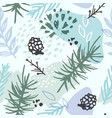 abstract winter seamless pattern vector image vector image