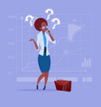african american business woman with question mark vector image