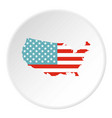 american map icon circle vector image vector image