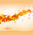 an autumn leaves and musical is my soul background vector image