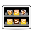 At orange app icons vector image