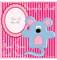 Baby postcard with mouse vector image vector image