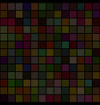 background of art colored dark squares mosaic vector image vector image