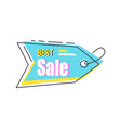 best sale arrow shape hanging sticker with lace vector image vector image