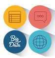 big data design concept vector image