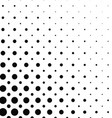 Black and white dot pattern design vector image vector image