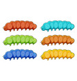 caterpillars in many color vector image