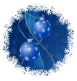 Christmas greeting card - balls with snowflakes vector image