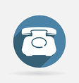 classic retro phone Circle blue icon vector image