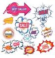 Comic Speech Bubbles With Sale Set vector image vector image