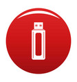 computer equipment icon red vector image vector image