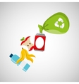 concept recycling process trash icond design vector image vector image