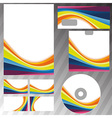 Corporate style rainbow stationery template vector image vector image