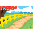 countryside path vector image vector image