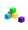 cubes of different colors vector image vector image