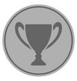 cup silver coin vector image vector image