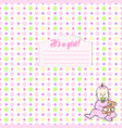 cute seamless pattern for newborn vector image vector image