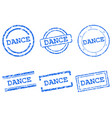 dance stamps vector image vector image