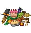 Doodle art of thanksgiving design vector image vector image