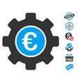 Euro Development Gear Icon With Free Bonus vector image vector image