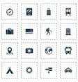 exploration icons set collection of building vector image vector image
