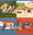farm animals design concept vector image