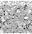 fastfood hand drawn doodles fast food frame card vector image vector image
